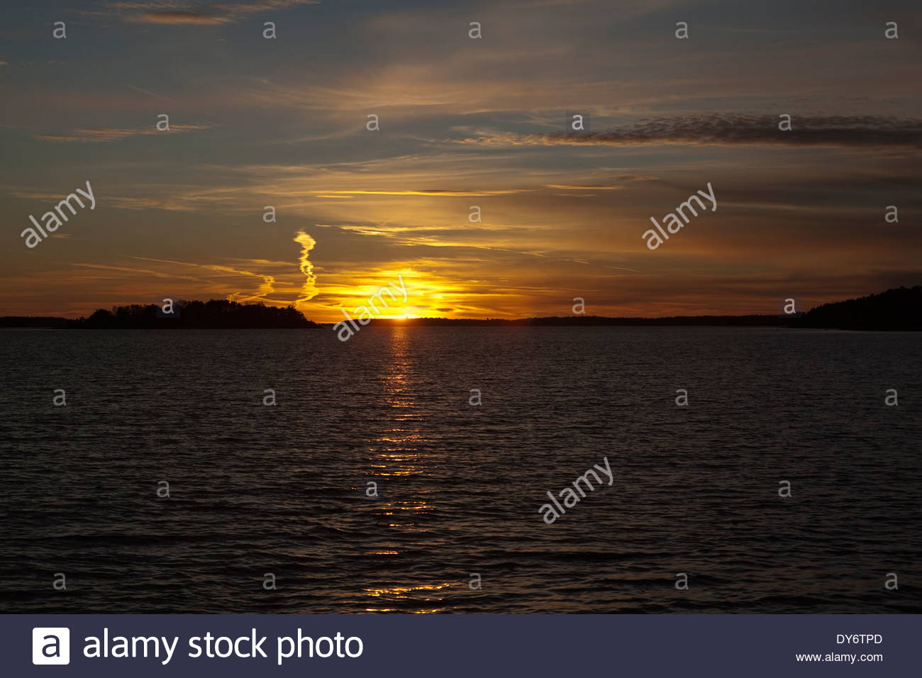 Evening afterglow - Stock Image