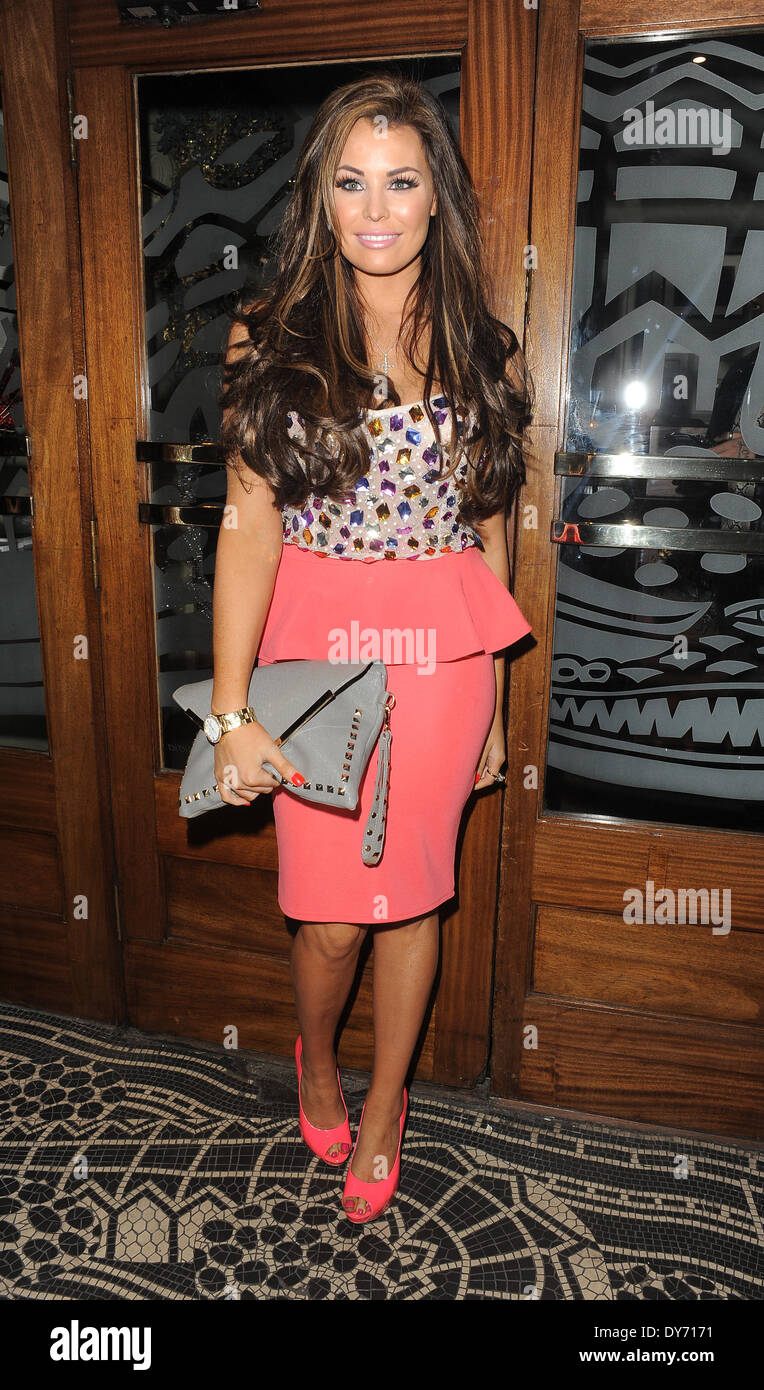 Jessica Wright arriving at the TOWIE Christmas Party held at Groucho ...