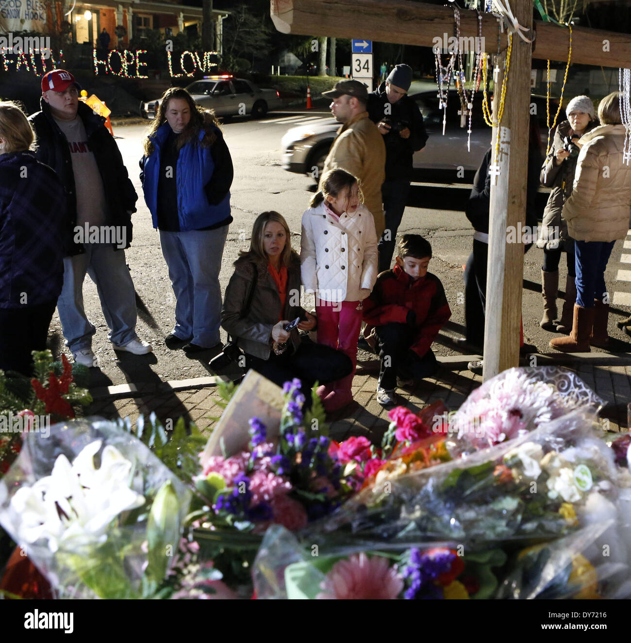 Fbi Releases Documents On 2012 Newtown School Shooting: Newtown Connecticut Stock Photos & Newtown Connecticut