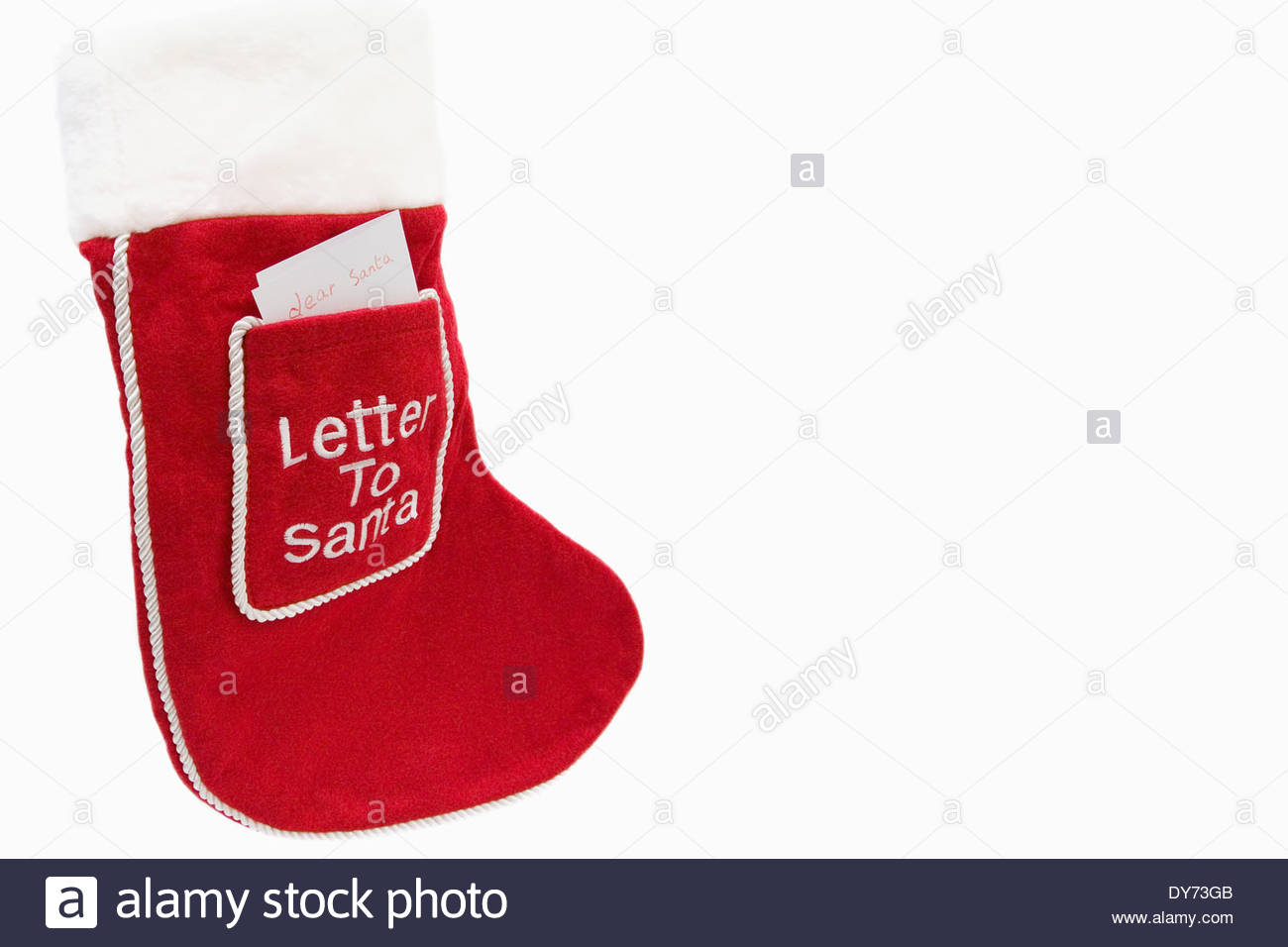 Red christmas stocking with a letter to santa in the front pocket red christmas stocking with a letter to santa in the front pocket spiritdancerdesigns Gallery