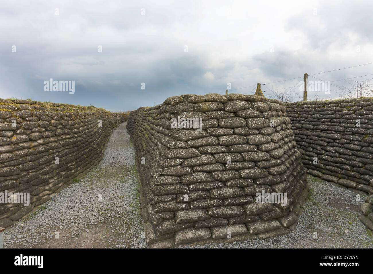 World War I trenches in Flanders, near Diksmuide. - Stock Image