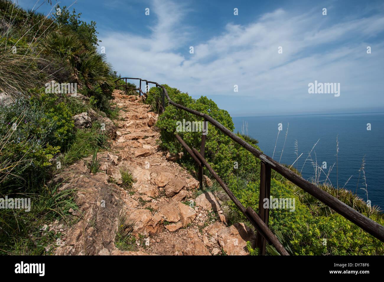 trail in sicily - Stock Image