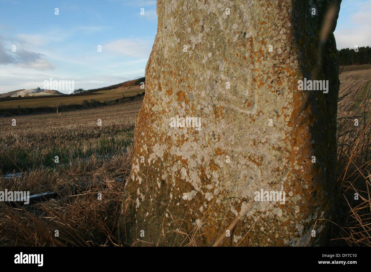 Bruceton Pictish Stone Stock Photo