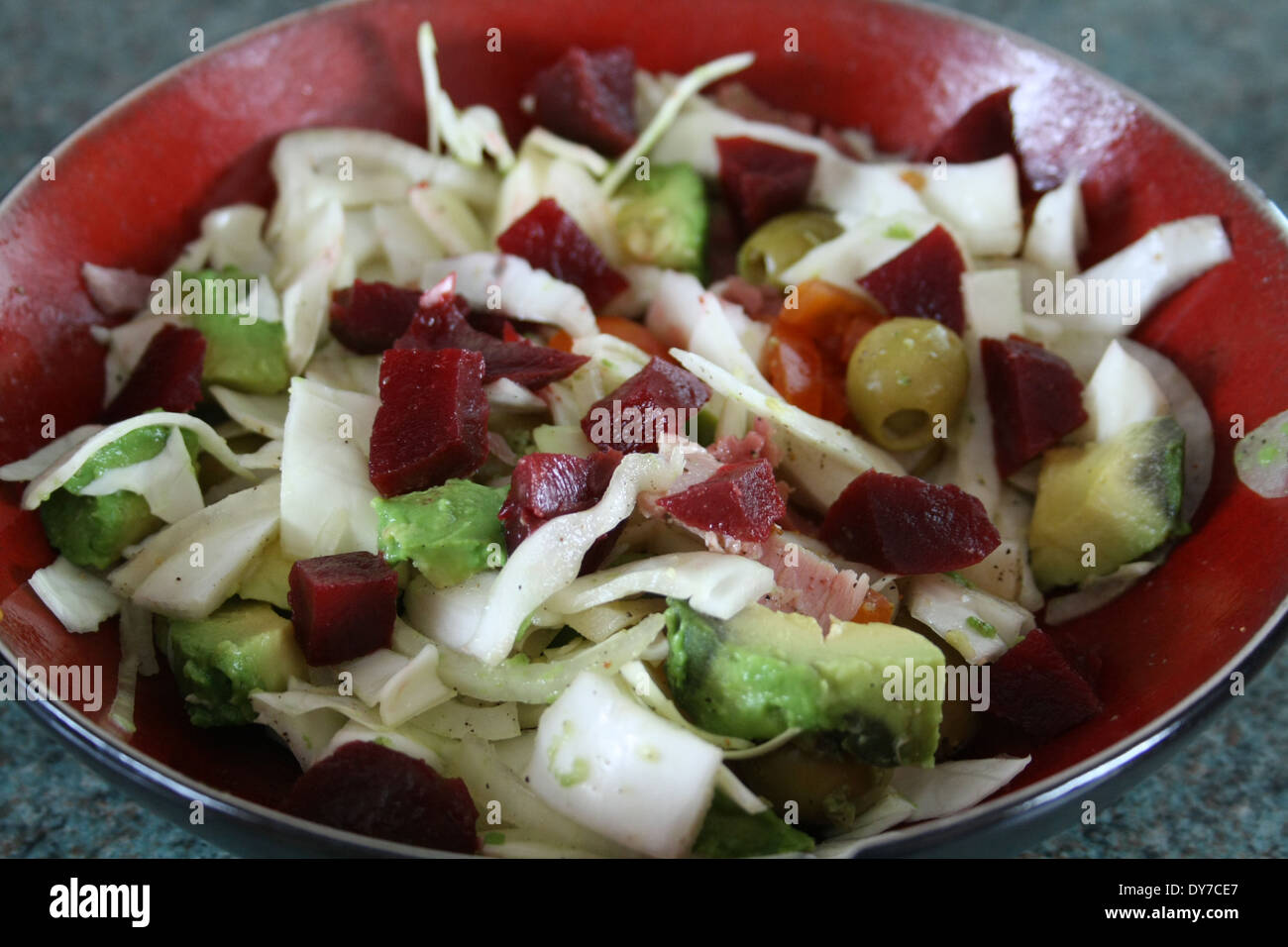 Slimming Salad, ensalada adelgazante - Stock Image