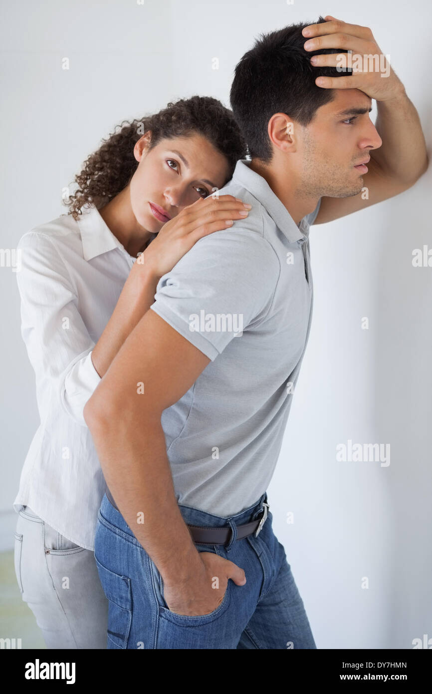 Casual business partners suffering defeat - Stock Image