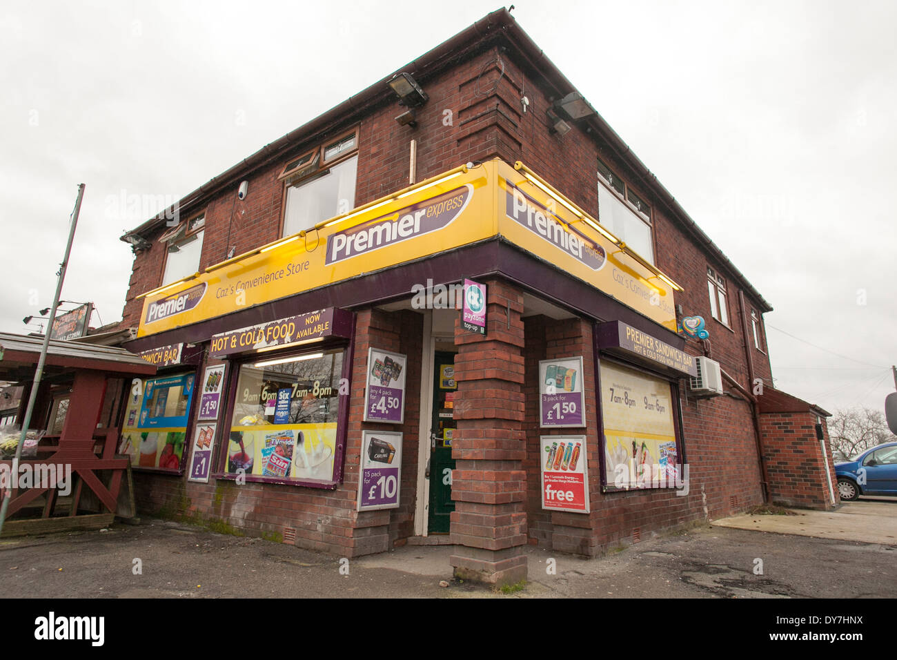 Premier convenience store in Leigh - Stock Image