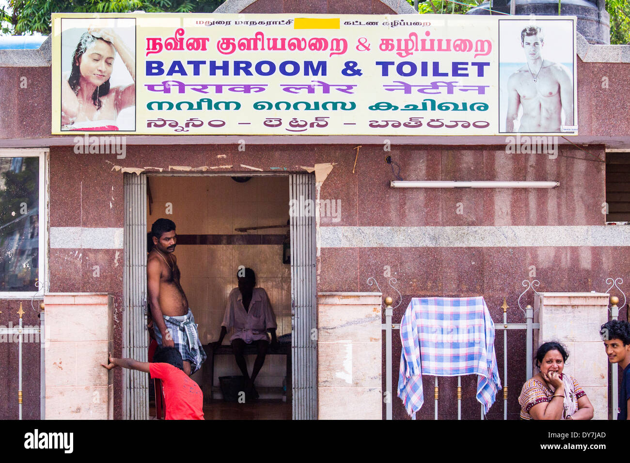 Mature men in public toilet