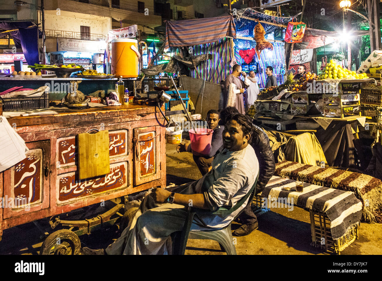 The night market or souk in Luxor, Egypt - Stock Image