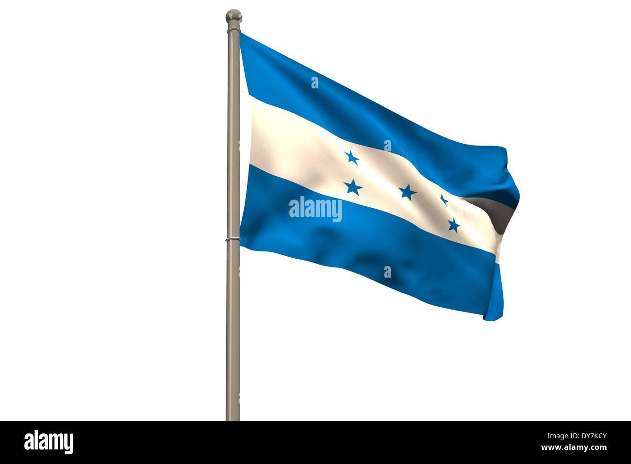 Digitally generated honduras national flag Stock Photo