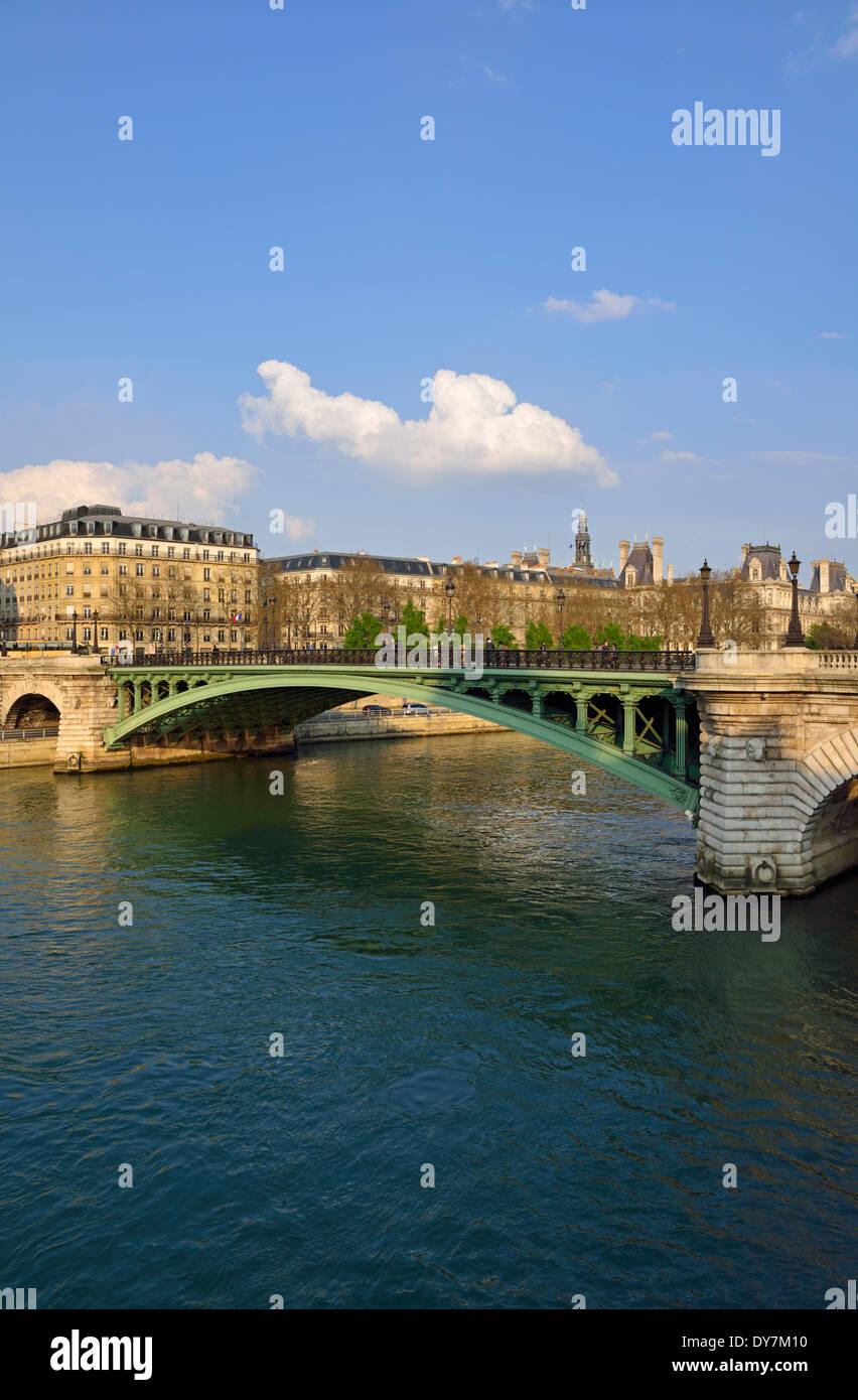 Pont Notre Dame, Île de la Cité, 4th Arrondissment, Paris, France - Stock Image