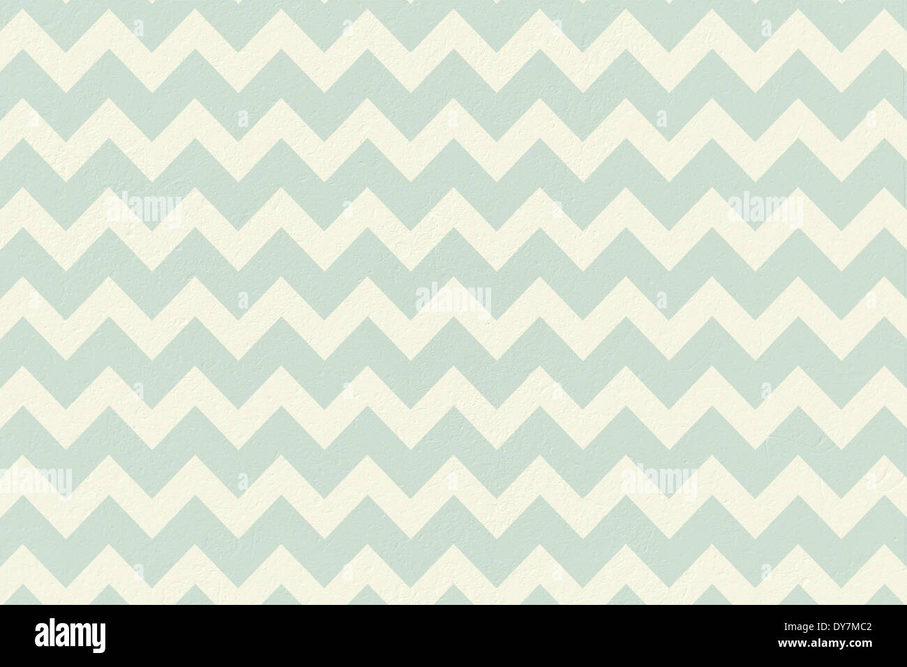 Blue and cream patterned wallpaper - Stock Image