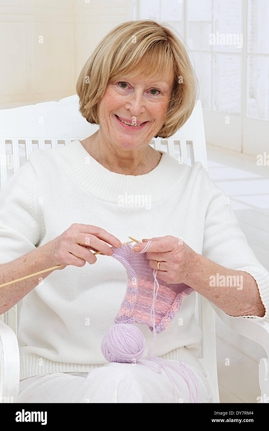 Manual activity, elderly person - Stock Image