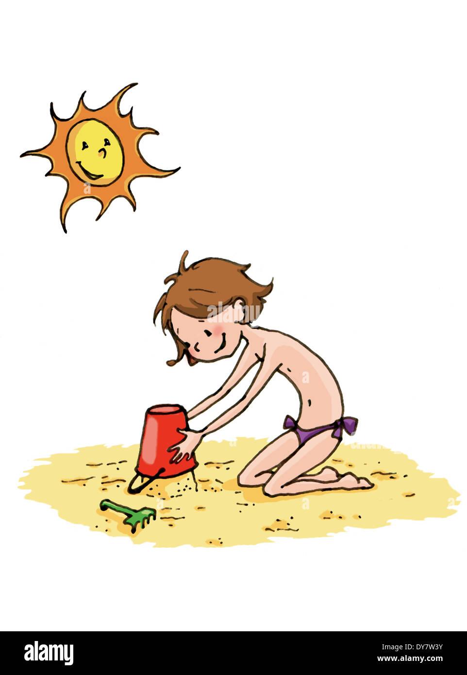 Sunburn - Stock Image
