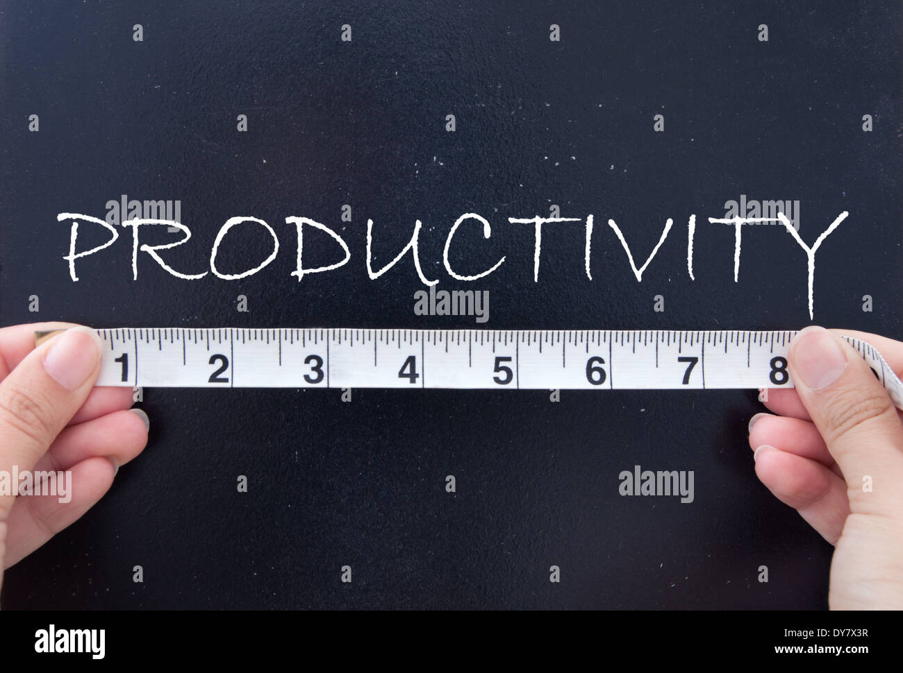 Measuring productivity - Stock Image