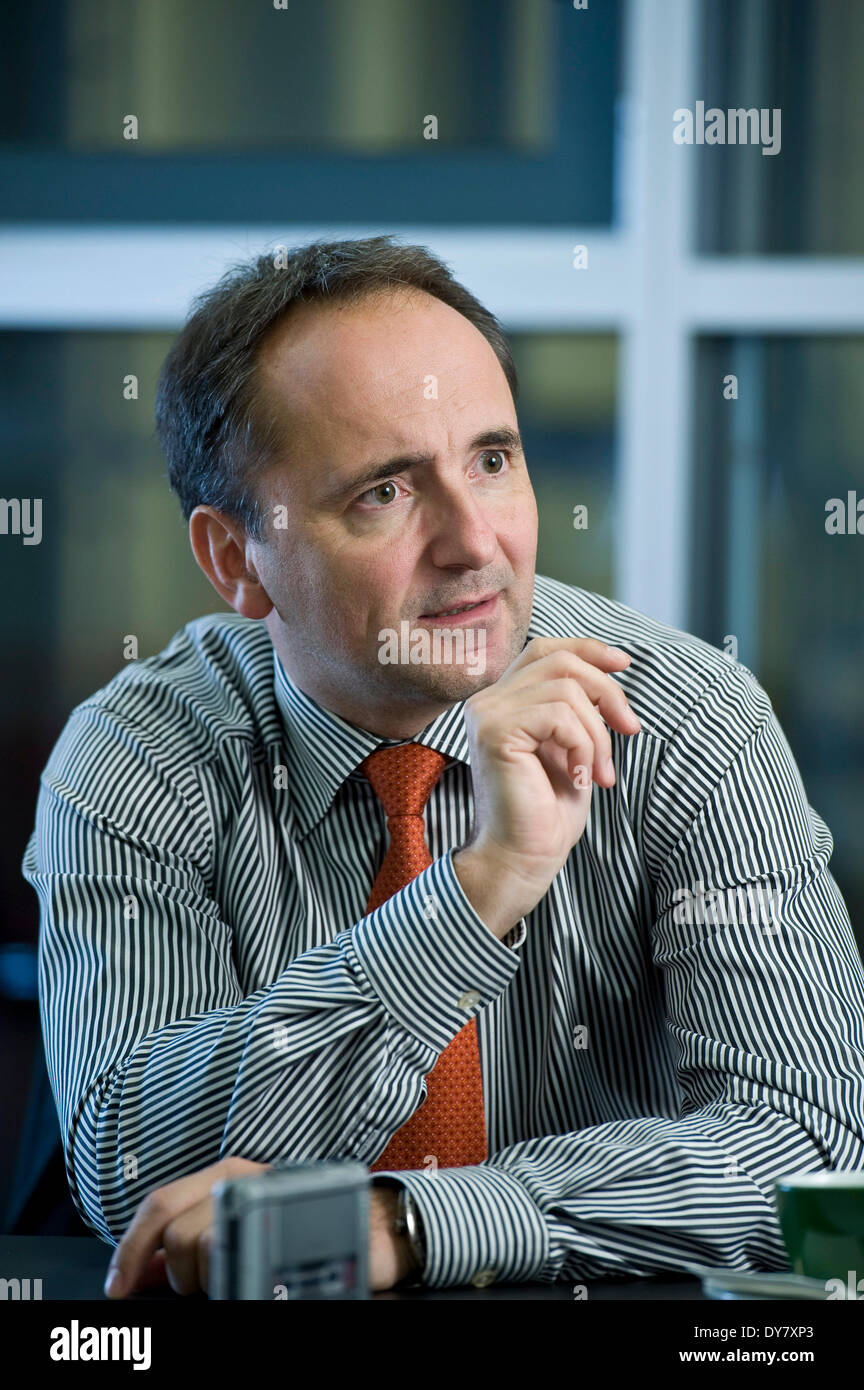 Jim Hagemann Snabe, spokesman of the board of SAP, in an interview, Berlin, Germany - Stock Image
