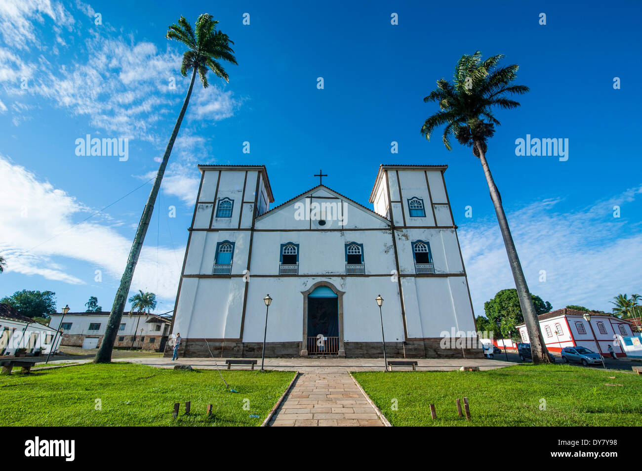 Matrix Church of Our Lady of the Rosary, Pirenópolis, Goiás, Brazil - Stock Image