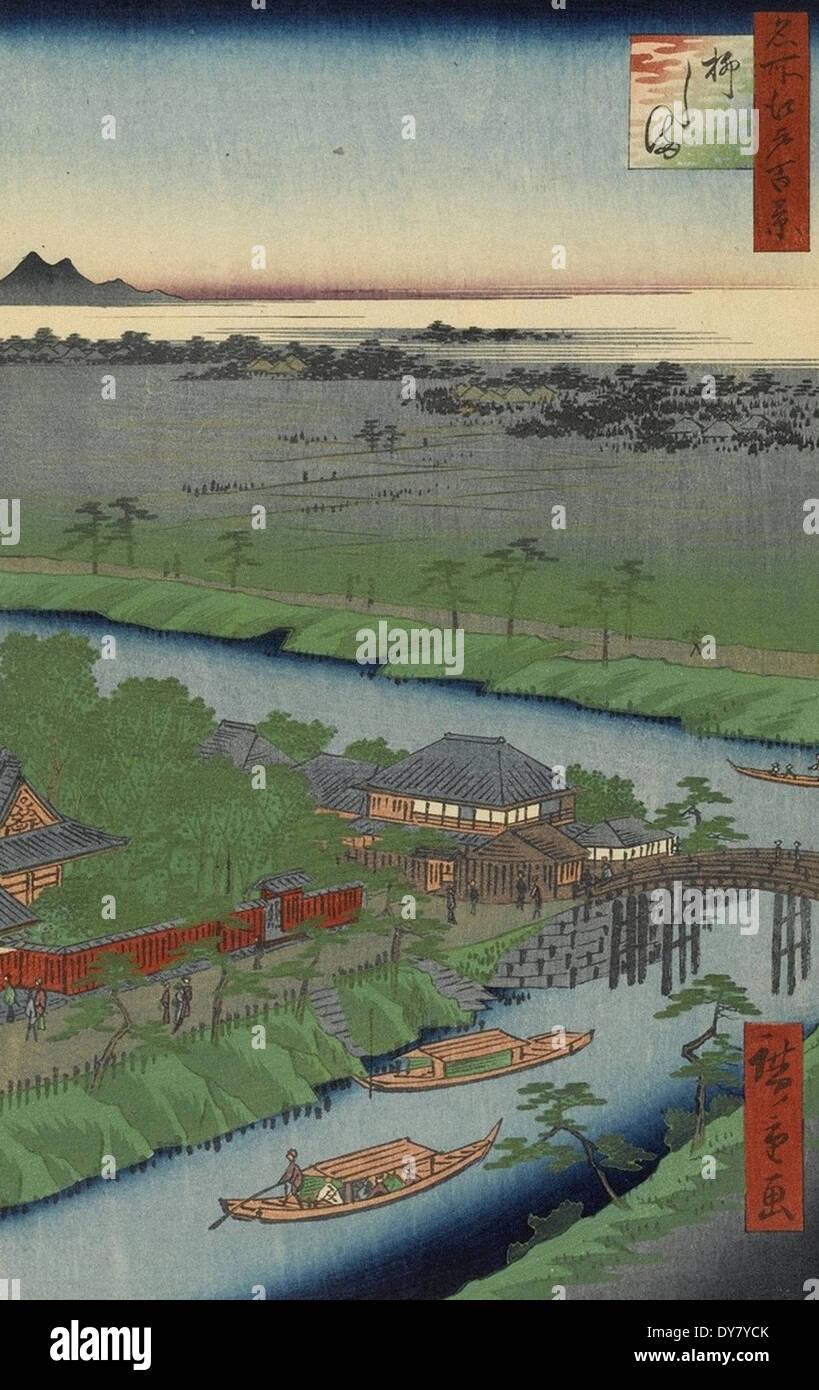 Utagawa Hiroshige One Hundred Famous Views of Edo - No. 32 Yanagishima - Stock Image