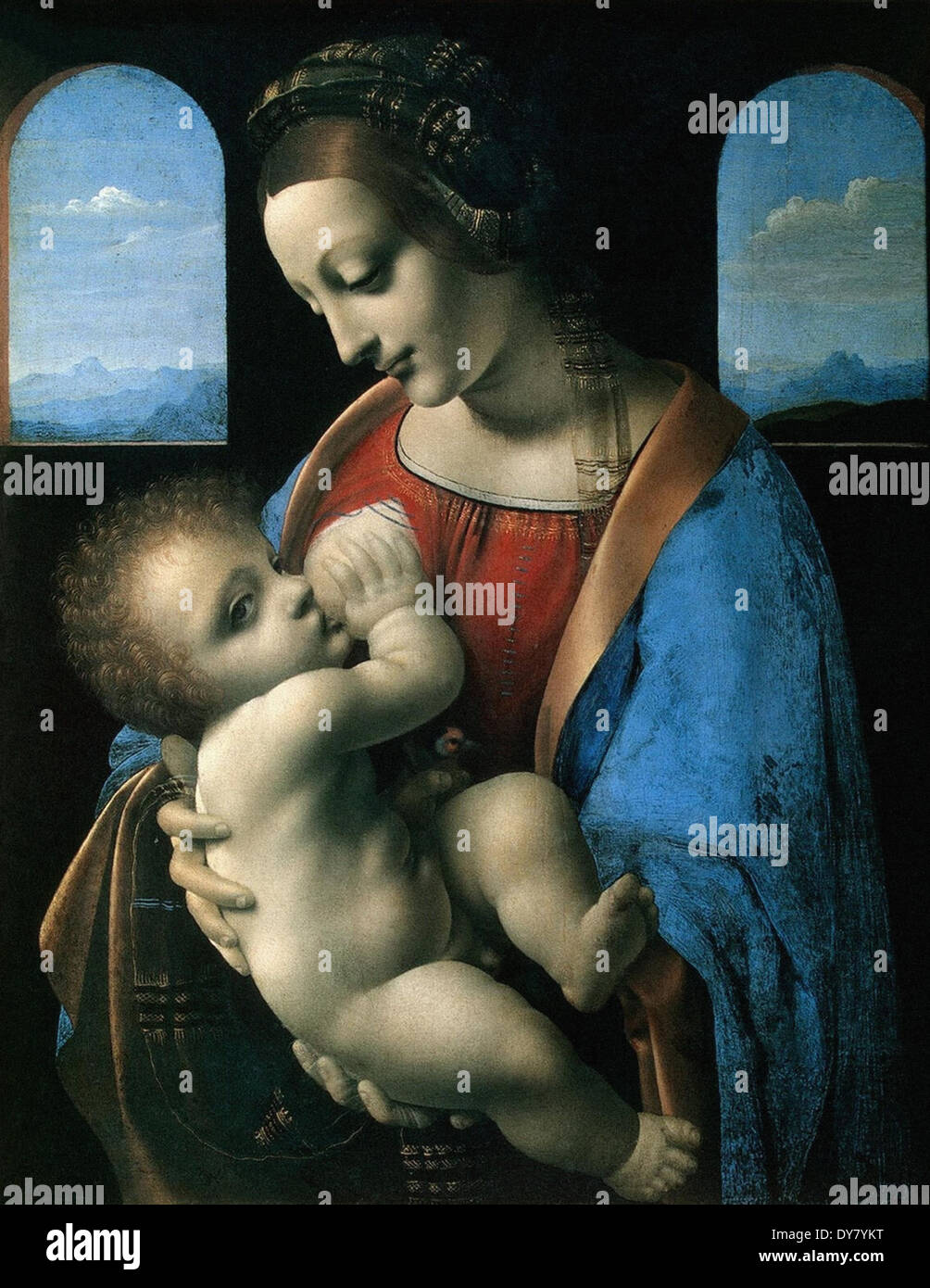 Leonardo da Vinci Madonna and the Child - Stock Image