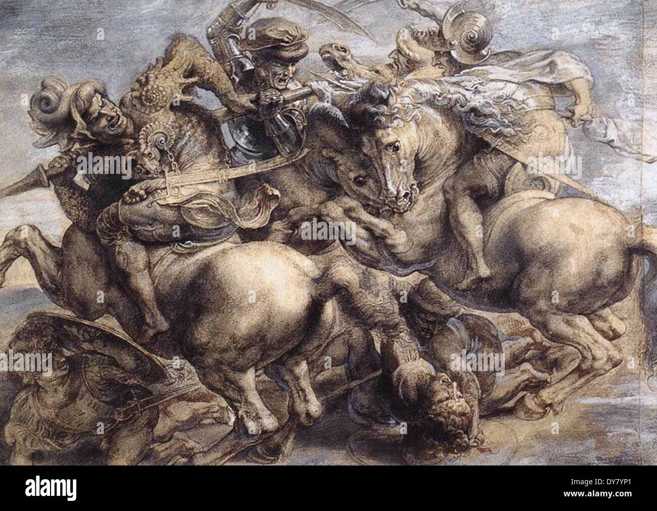 Leonardo da Vinci The Battle of Anghiari - Stock Image