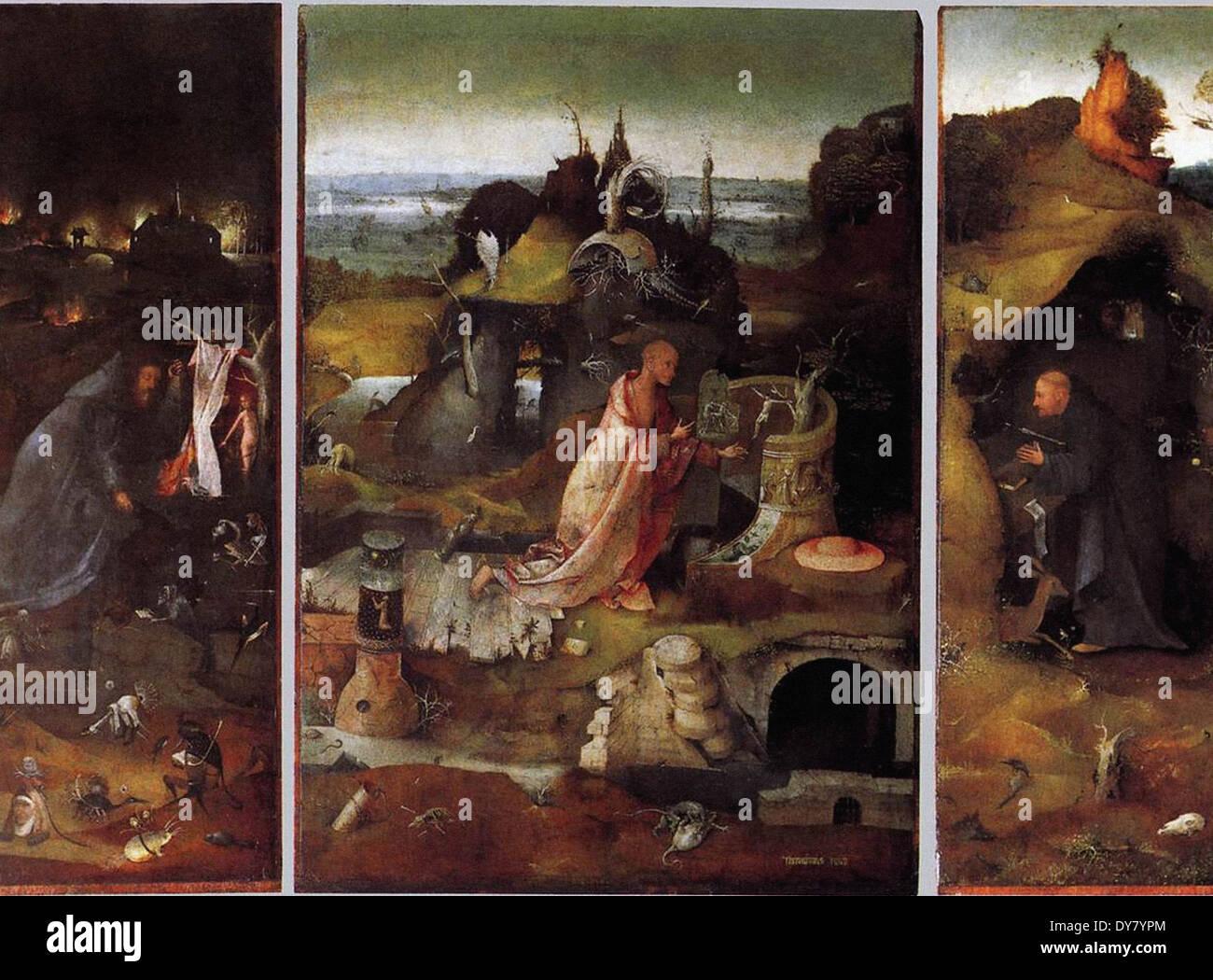 Hieronymus Bosch Hermit Saints Triptych - Stock Image