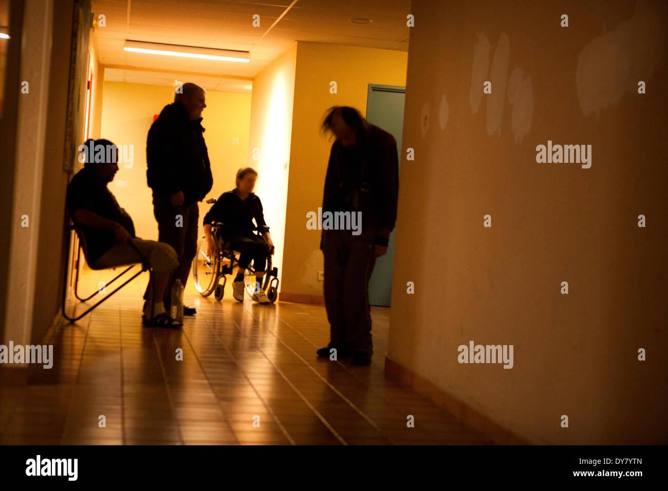 Psychiatric hospital - Stock Image