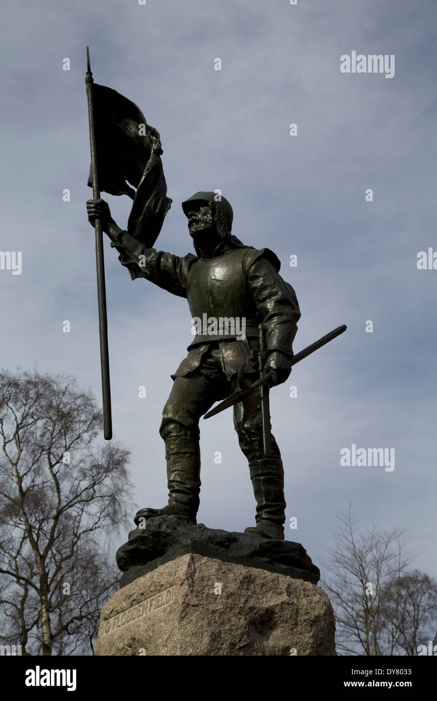 Statue Of Fletcher; errected in Selkirk. Commemorating the Battle O Floddenfield #4543 - Stock Image