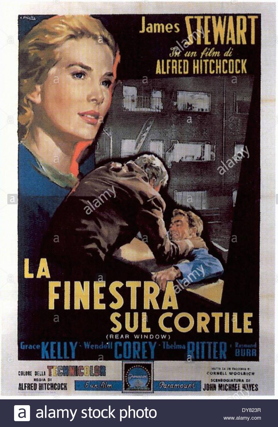 Rear window italian movie poster la finestra sul cortile stock photo 68404107 alamy - La finestra sul cortile sciacca ...