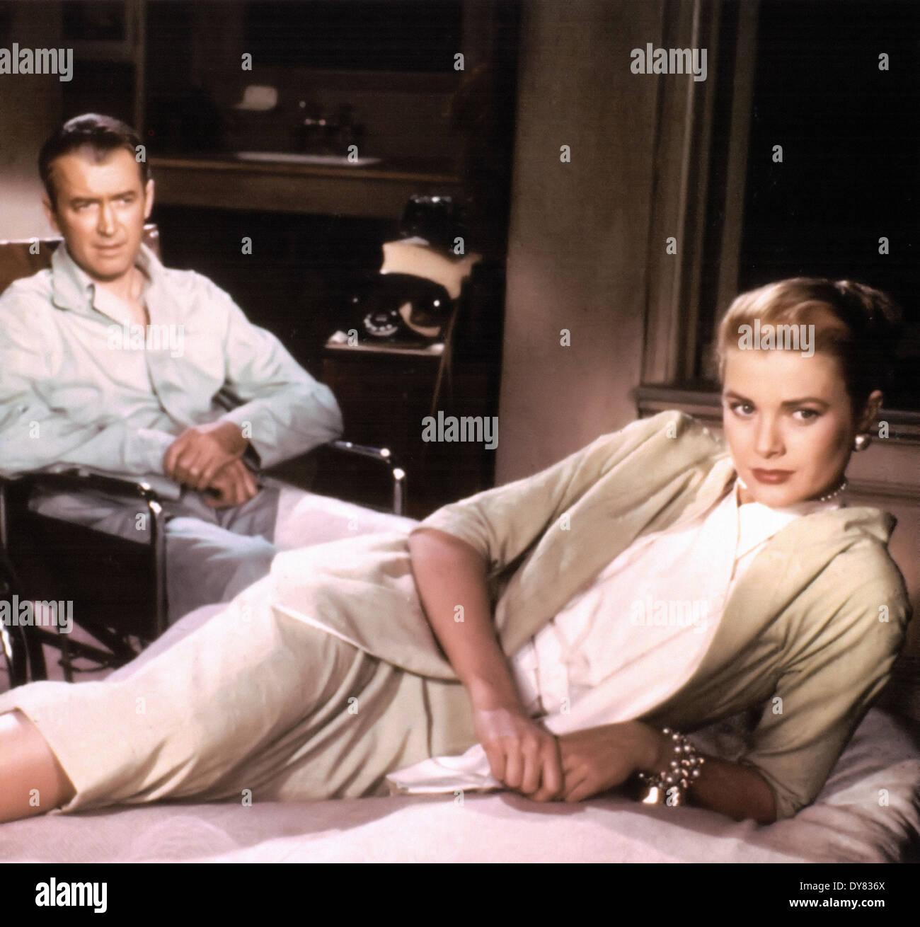 Rear Window - Grace Kelly , James Stewart - Director : Alfred Hitchcock - 1954 - Stock Image