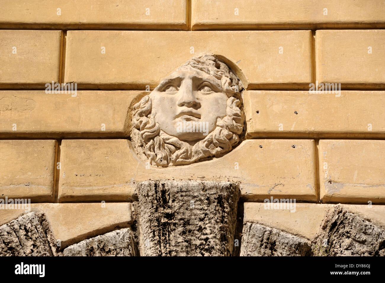 italy, rome, jewish ghetto, palazzo cenci, Medusa head, ancient ...