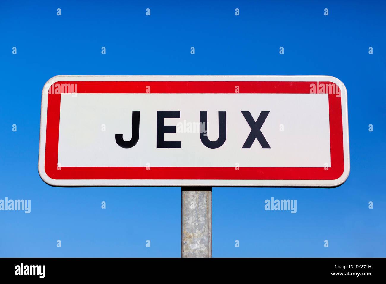 Little village called Jeux in France - Stock Image