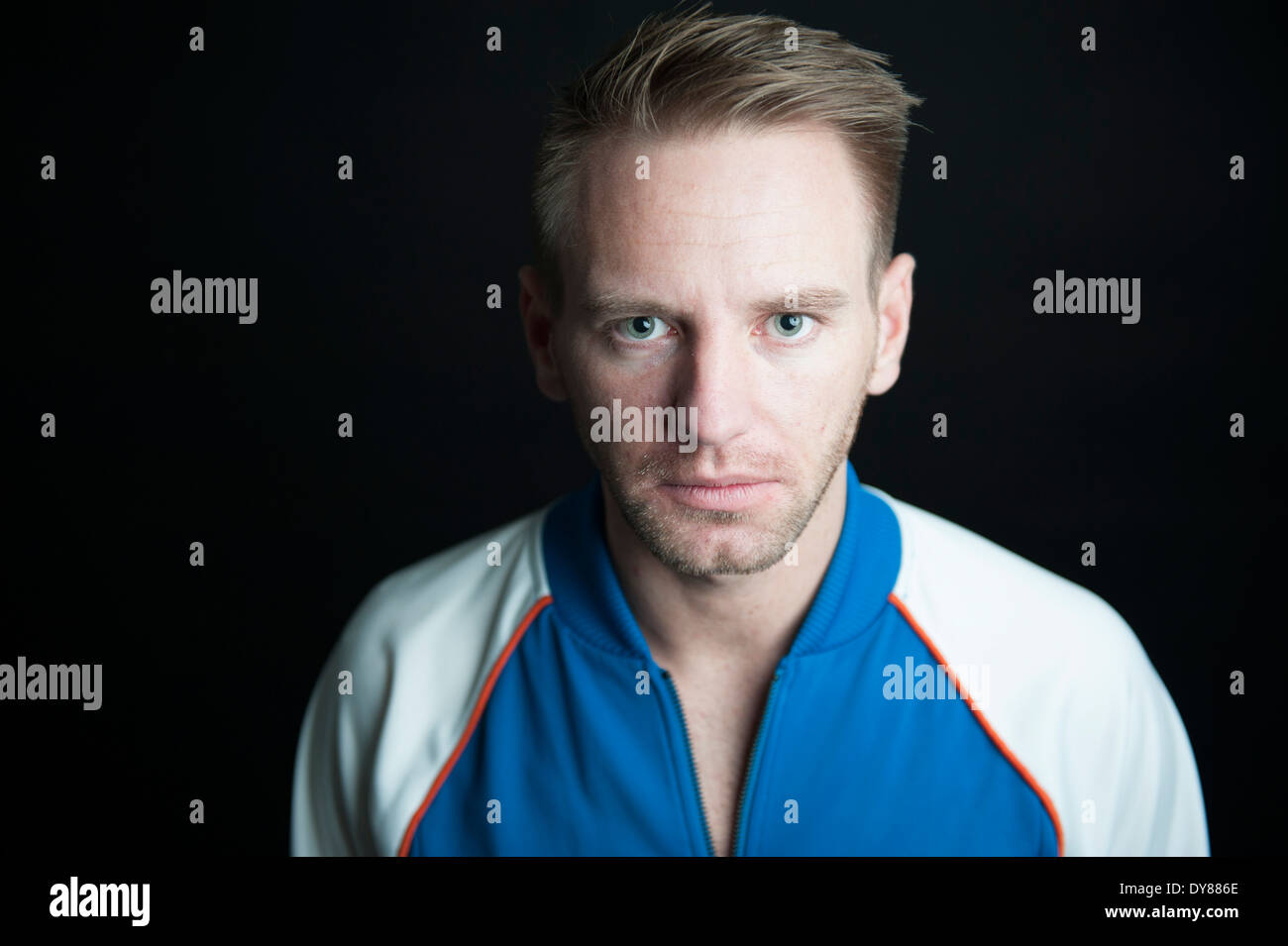 Serious young man, portrait - Stock Image
