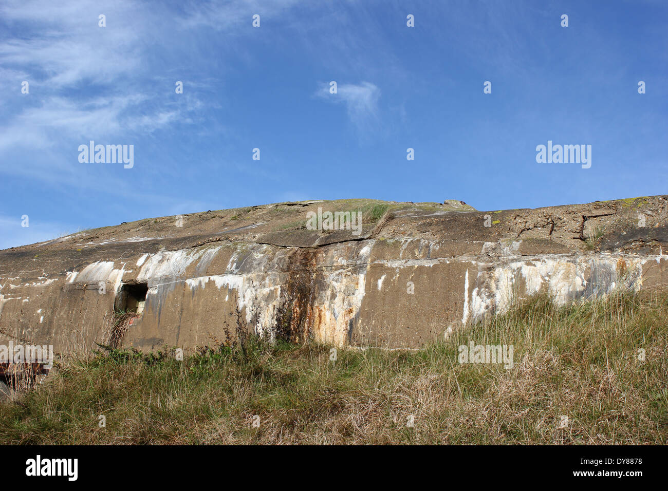 A bunker of the coastal fortifications on the island Fano in Denmark, Europe - Build 1940 to prevent the allied invasion - Stock Image
