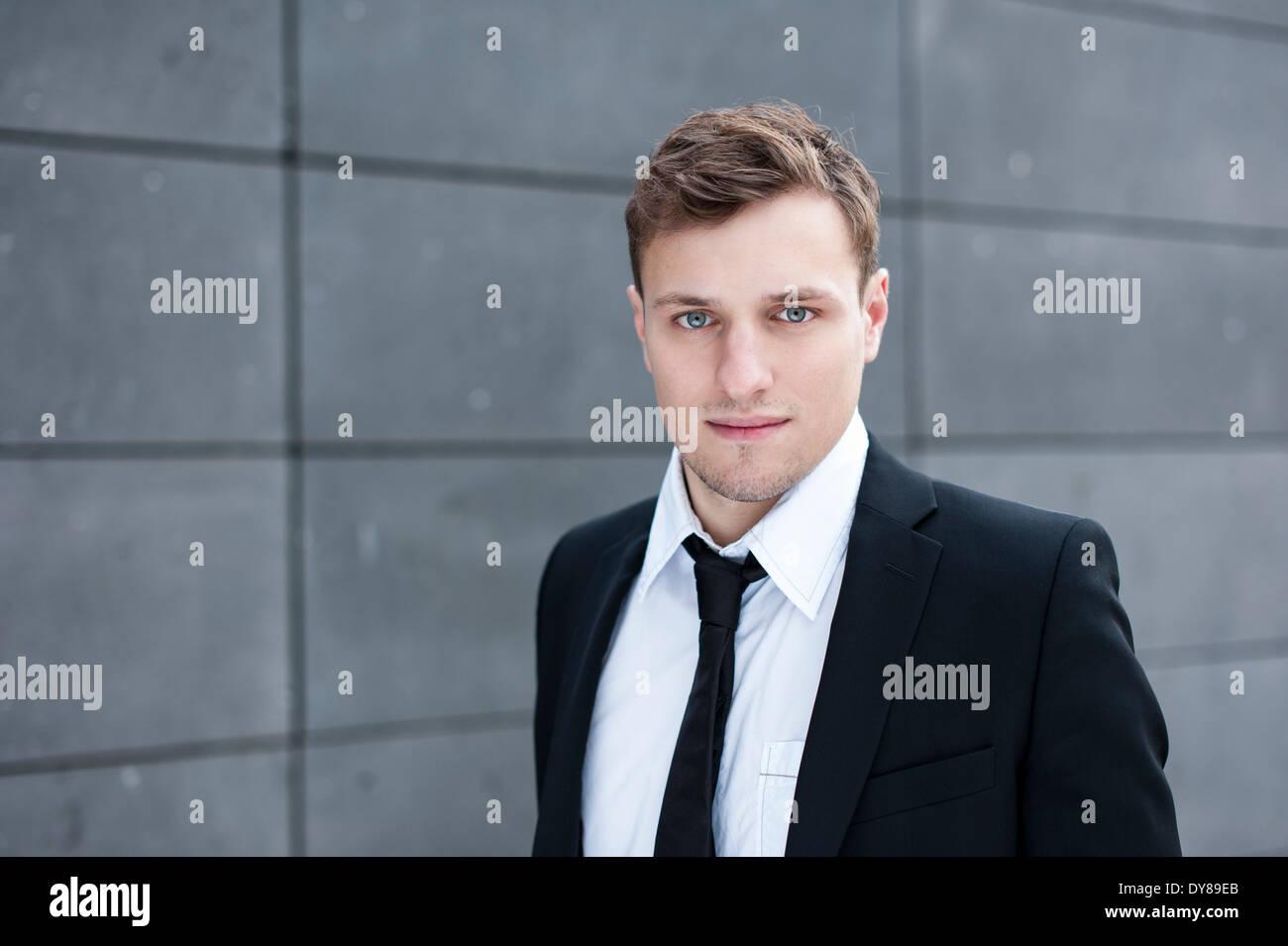 Man with suit, Portrait - Stock Image