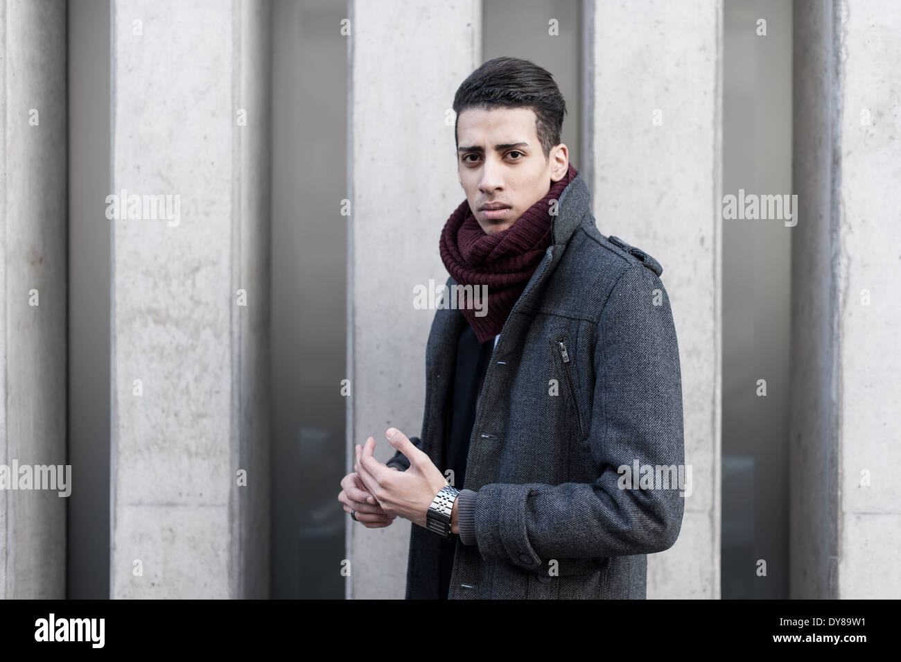 Young man, portrait - Stock Image
