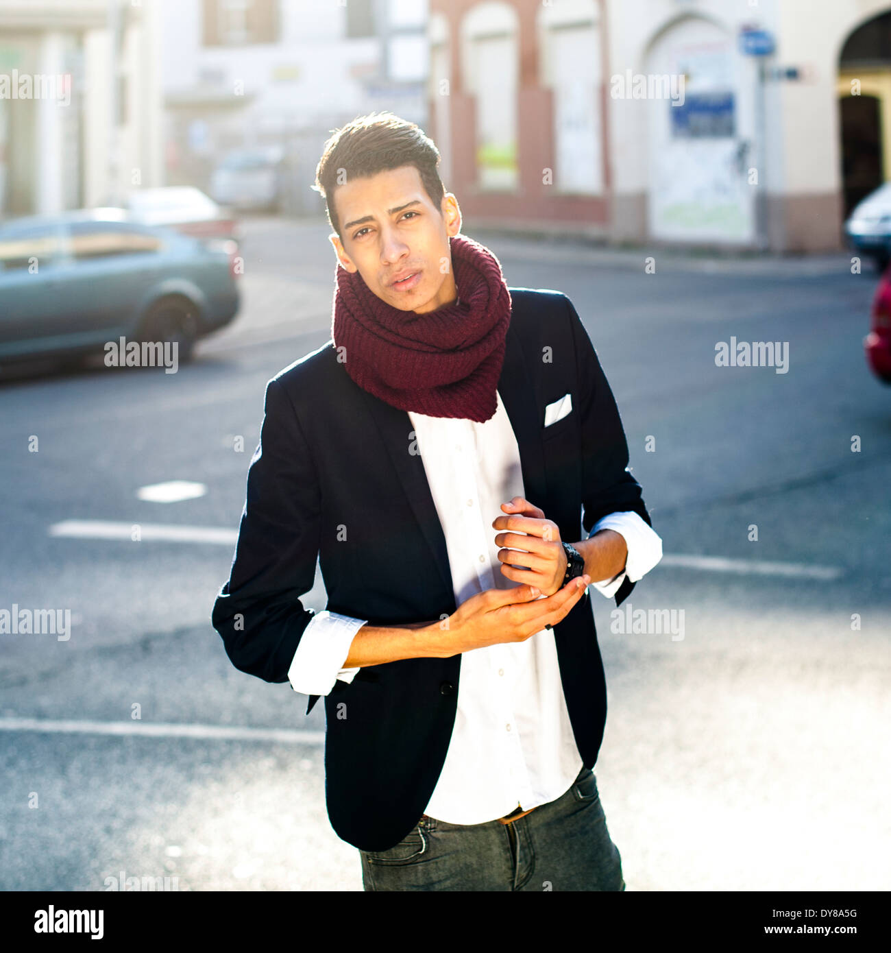Young man in the city - Stock Image