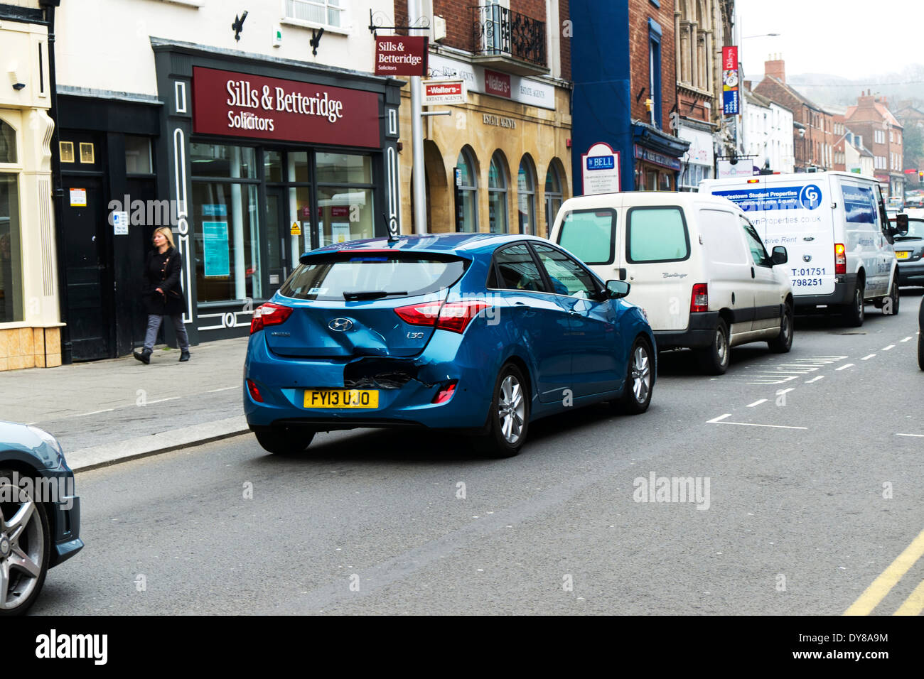 Rear Shunt Car Accident Vehicle Collision Crash Damage Car Cars