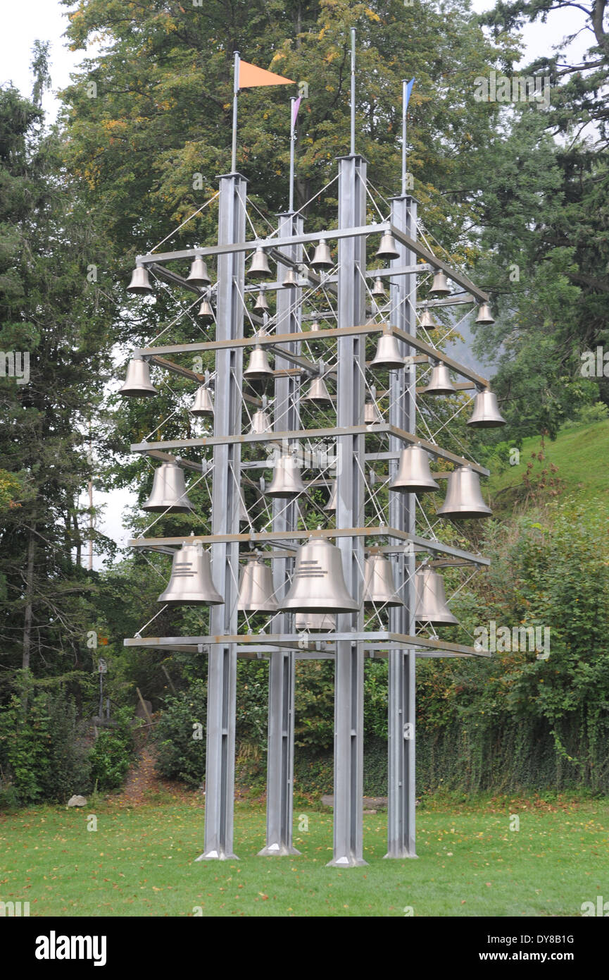 Switzerland, Uri, Sisikon, carillon, chime, glockenspiel, bells - Stock Image