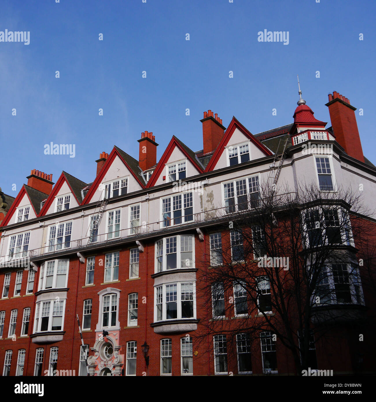 Rear view of Cathedral Buildings, Dean Street, Newcastle upon Tyne, England, UK - Stock Image