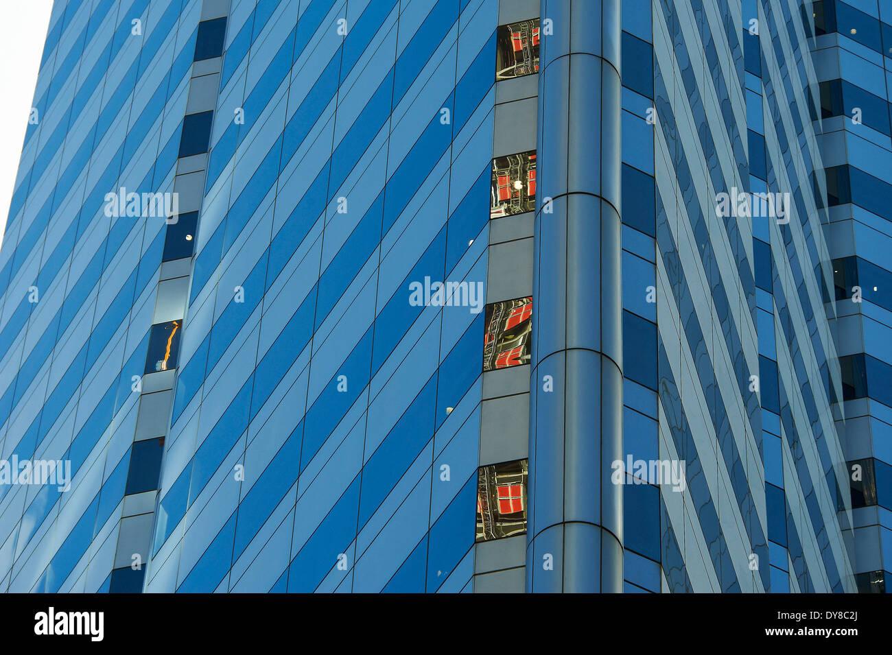 Australia, Perth, Western Australia, facade, building, construction, block of flats, high-rise building, Stock Photo