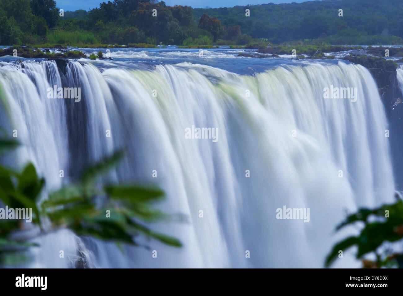Botswana, Africa, Zimbabwe, Victoria Falls, waterfalls - Stock Image