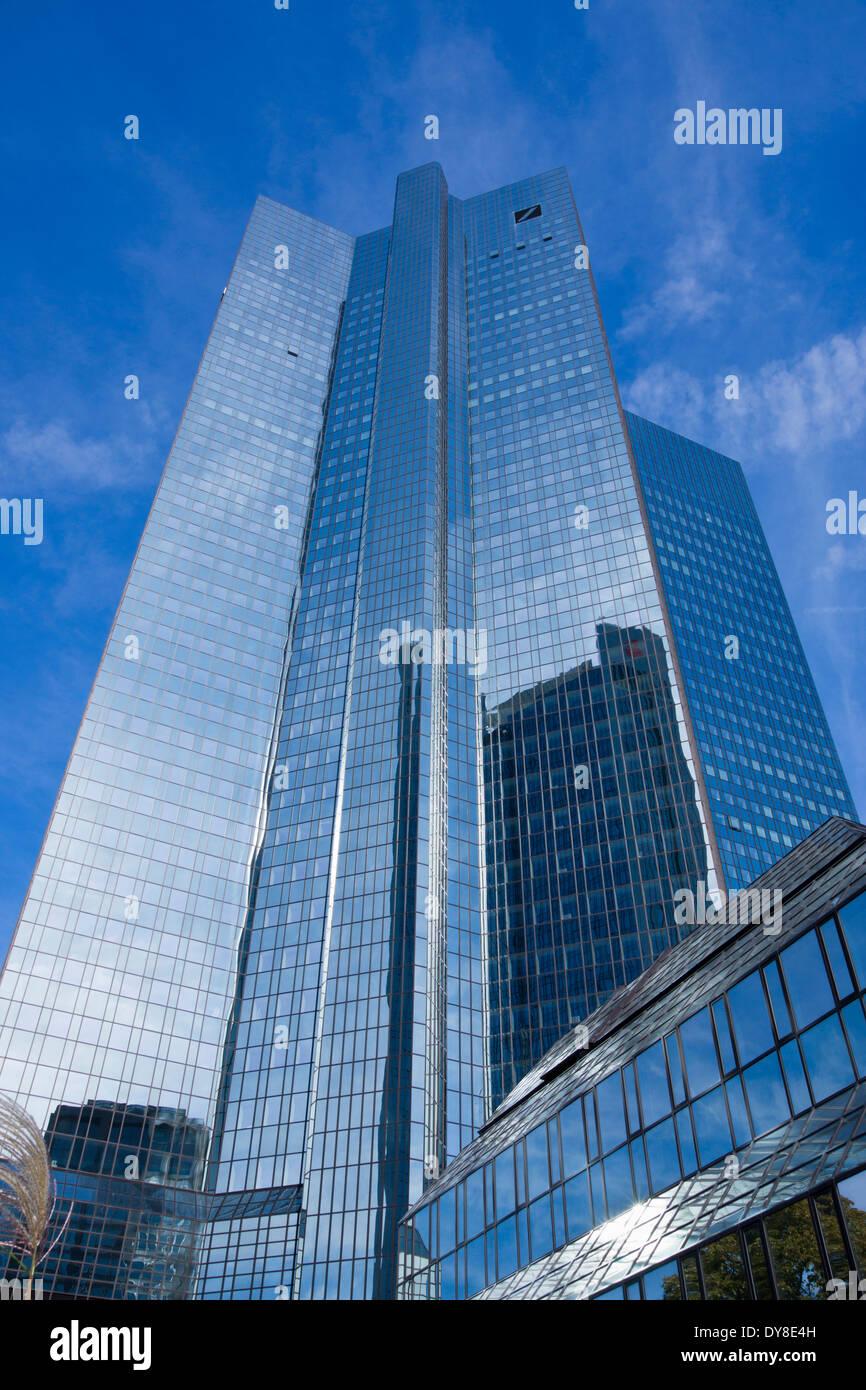 office building of the deutsche bank, frankfurt am main, hessia, germany, europe Stock Photo