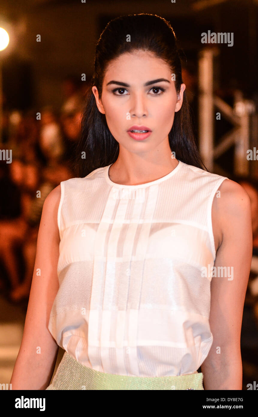 Adolfo Dominguez Spring-Summer collection runway - Stock Image