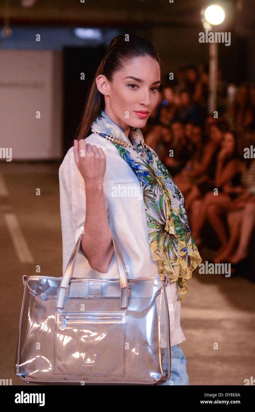 Adolfo Dominguez Spring-Summer collection runway. - Stock Image