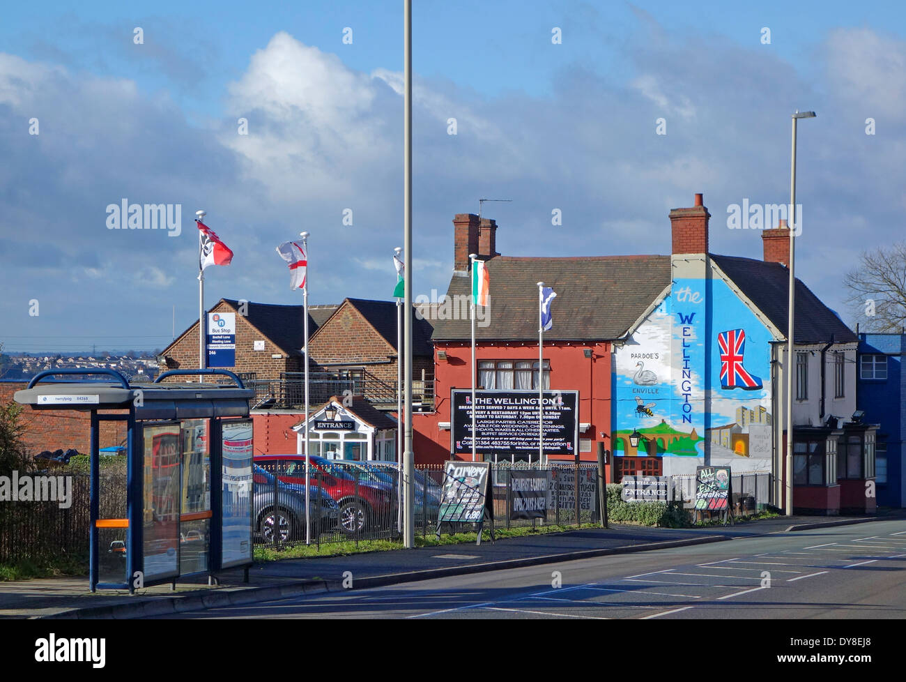 Mural Depicting The Black Country, The Wellington Pub, Brettell Lane ( A461 ), Brierley Hill, West Midlands, England, UK - Stock Image