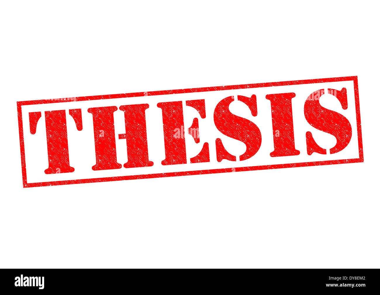 THESIS Red Rubber Stamp Over A White Background Stock Photo - Alamy