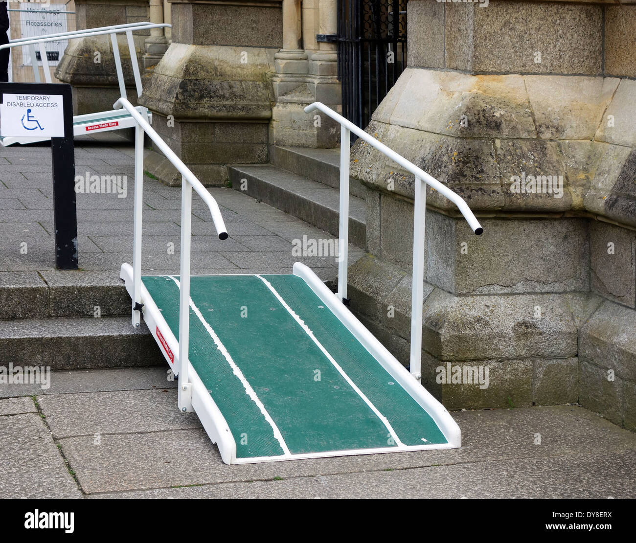 a temporary disabled ramp - Stock Image