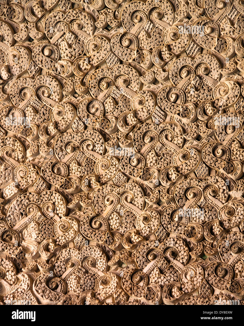 Floral paterns background stucco Stock Photo