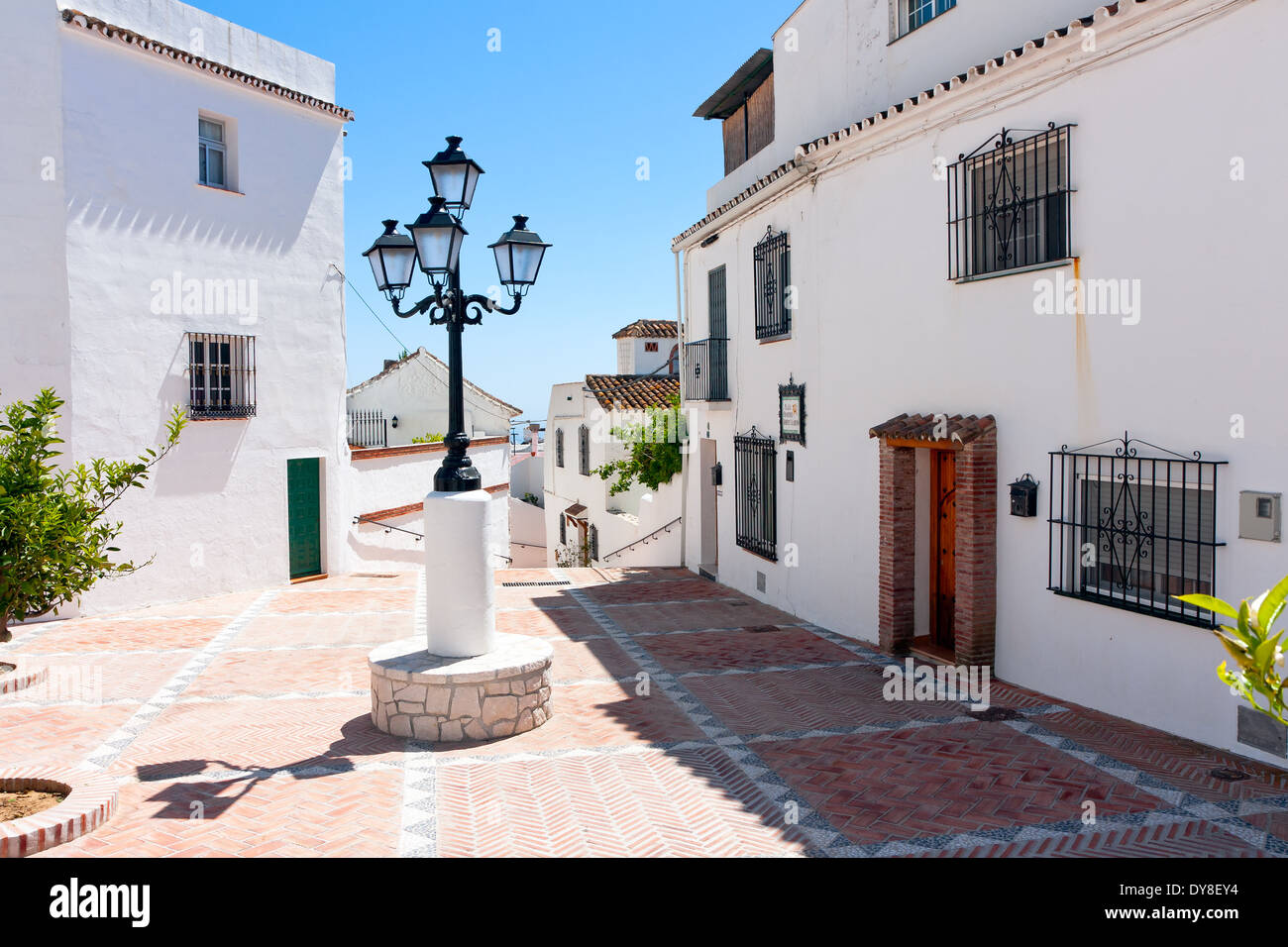 Mijas Pueblo. Francisco Gimenez Alarcon Square Stock Photo