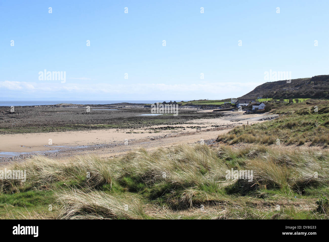 Ruins of the Salthouse, Port Eynon Point, Gower Peninsula, Wales, Great Britain, United Kingdom, UK, Europe - Stock Image