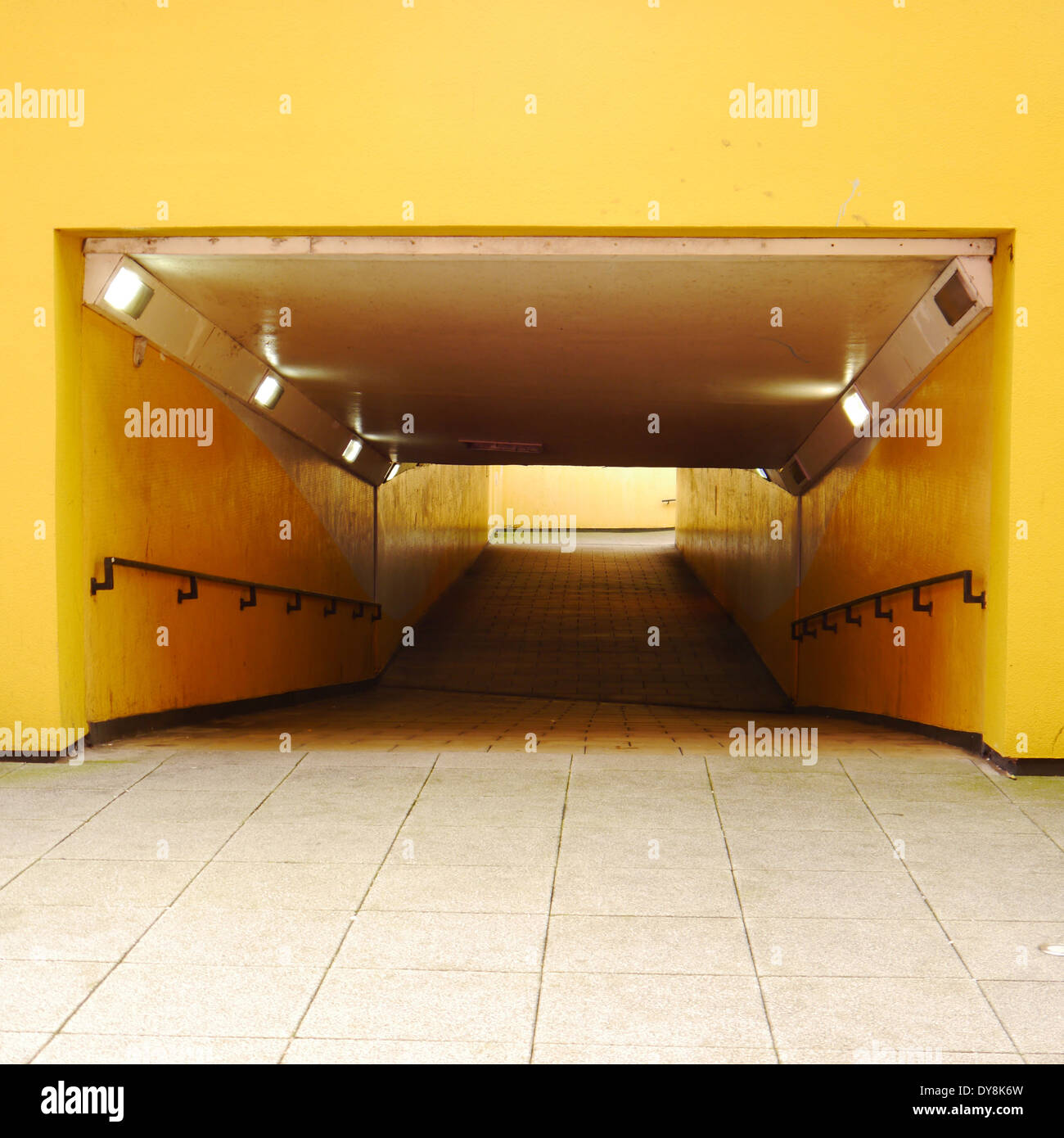 Pedestrian underpass / subway, 55°North, Newcastle upon Tyne, England, UK - Stock Image